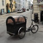 Christiania cargo bike for smaller kids on our Copenhagen bike tours