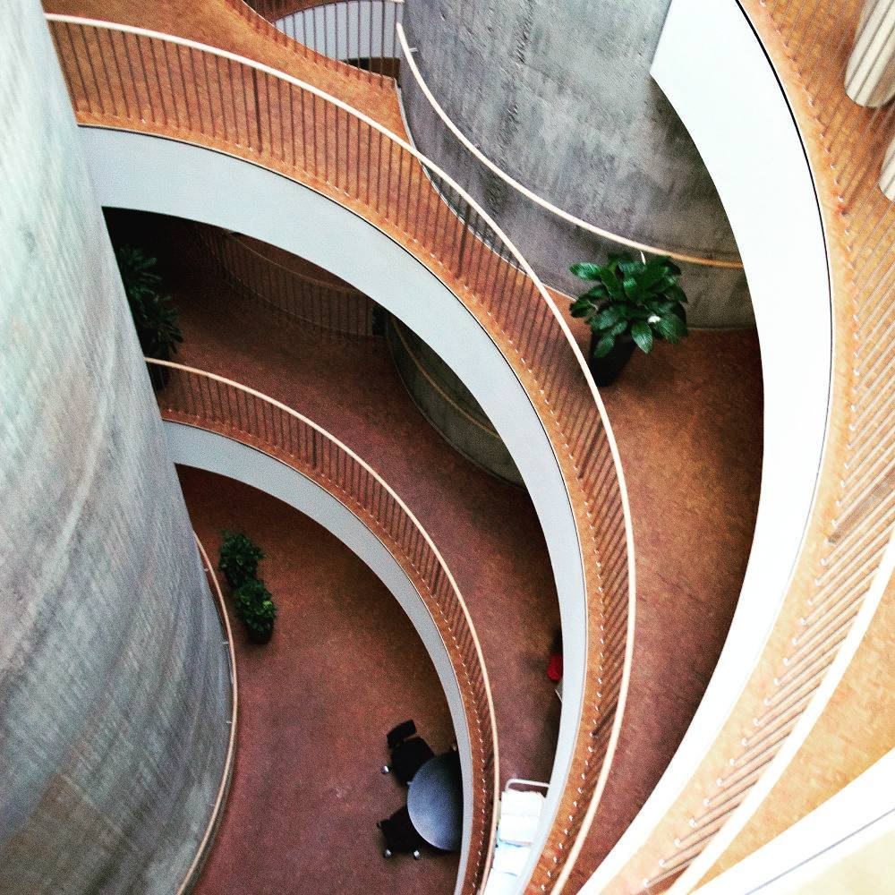 Multi-day tour of Danish Architecture - SEB Bank interior by Lundgaard & Tranberg