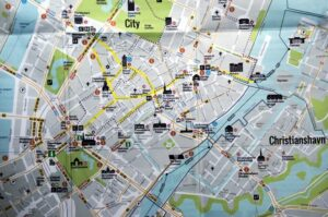 Rent a bike in Copenhagen city map