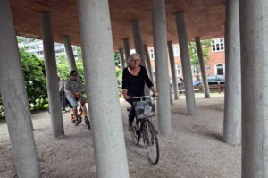 Community centre adaptive reuse by Dorte Mandrup visited on beCopenhagen architecture bike tour