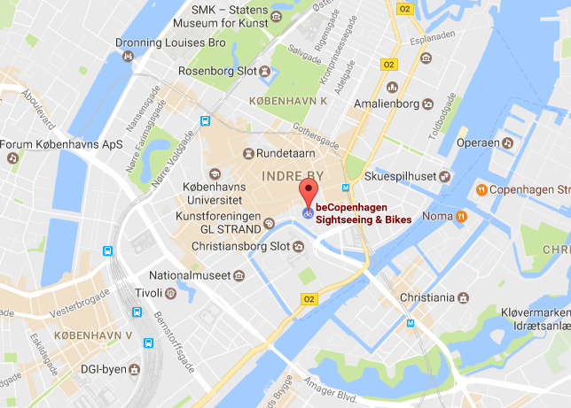 find us beCopenhagen map